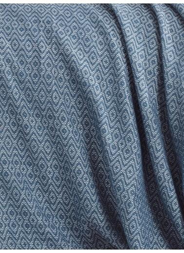 Eponj Home Venüs Pike Yatak Örtüsü Seti Çift Kişilik si Mavi